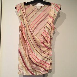 Banana Republic 100% Silk striped blouse cute top